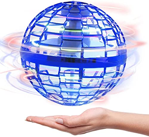 Giocattolo a sfera volante, versione aggiornata di Boomerang Ball Spinning Drone 360 ° rotante Giocattolo for palla volante rotante, incorporato GUIDATO Palla spaziale flying | Mini ufo Fly Orb, Man