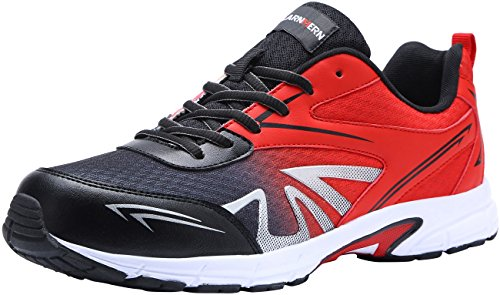 LARNMERN Zapatillas de Seguridad Hombres,LM180105 SB SRC Zapatos de Trabajo con Punta de Acero Ultra Liviano Suave y cómodo Transpirable 42 EU,Rojo