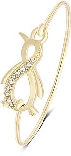 Pretty Animal Jewelry Easy Open Penguin Bangle Bracelet