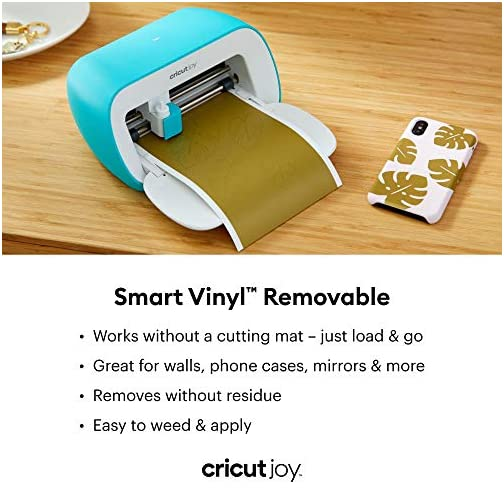 "Cricut 2007155 Joy Smart Vinyl - Removable - 5.5"" x 48"", Adhesive Decal Roll - Black |"