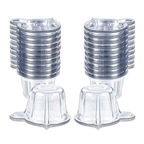 Lsydgn Urinbecher aus Kunststoff Transparente Urin Becher Einweg Urinbecher Urinbecher Leicht zu entnehmende Urinprobe 40ML für Schwangerschaftstest und Ovulationstest 200 Stück (Transparent)