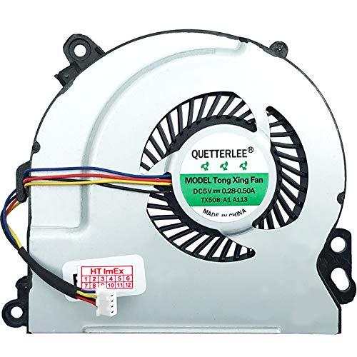 (Version 2) Ventilador de refrigeración compatible con HP Envy 17-j004eg, 17-j072sf, 17-j104ef, 17-j151ei, 17-j020ss, 17-j100sx, 17-j120sr, 17-j190nz, 15-j011er, 15-j090ez, 15-j122er, 15-j177n