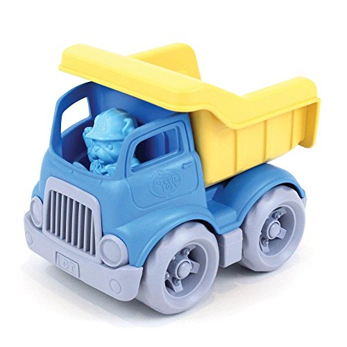Green Toys Dumper Construction Truck Blue/ Yellow, 5.75x7.5x5.5, count of 2