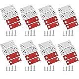 AUXSOUL 8 Piezas de Cerradura de Puerta Magnética Ultrafina, Puerta Adhesiva Puerta Deslizante Magnética Cerradura de Gabinete Magnético Cajón Cerradura Magnética
