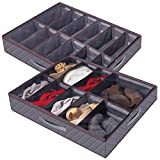 Lifewit Shoe Storage Organizer Large Adjustable Dividers Under Bed Bag...