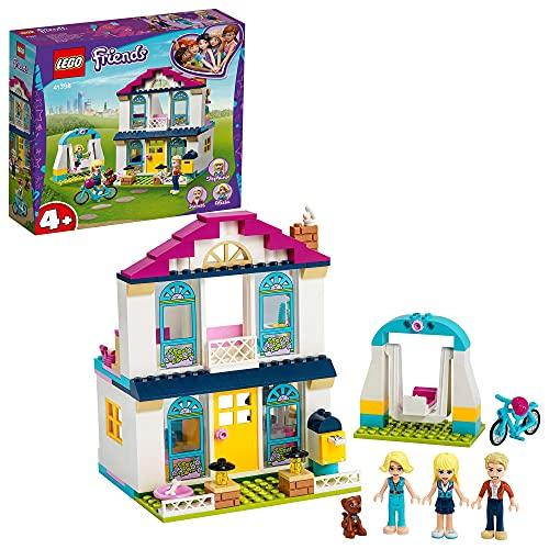 LEGO 41398 Friends 4 Stephanies Familienhaus, Puppenhaus-Spielset mit Minipuppen, Spielzeuge für Vorschulkinder