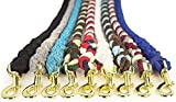 Ravenox Cotton Rope Leash Lead | 1/2-inch x 25 Foot for Medium to Large Dogs, Pets or Horses (Black) |...