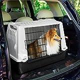 Ferplast 73079021W1 Autotransportbox ATLAS CAR MINI, für Hunde, Maße: 72 x 41 x 51 cm, grau - 8