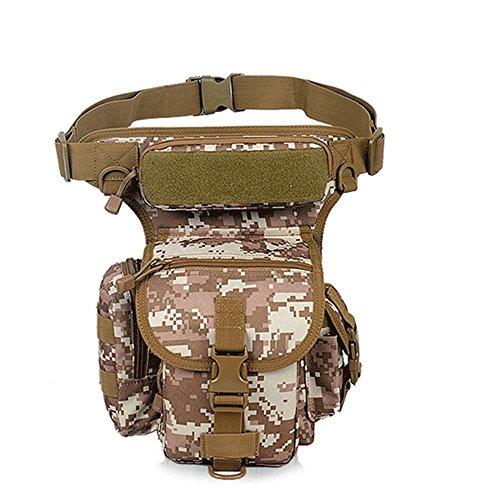 Riñoneras ZHANGRONG- Ventiladores Militares Al Aire Libre Multi-función Bolsillos Piernas Bolso Impermeable del Deporte del Montar A Caballo Kit De Camuflaje (Color : 4)