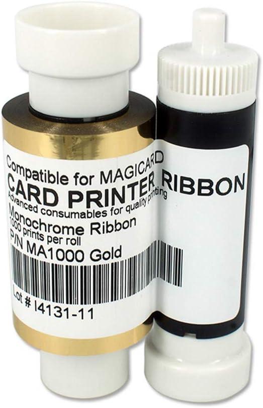 MA1000K-Gold Monochrome quality assurance Ribbon for Card Magicard High material Enduro3E Enduro
