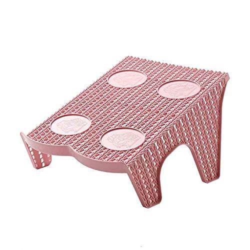 xingguang Zapatero de zapatero doble ajustable, caja de almacenamiento moderna de expansión, se puede colocar en el estante de zapatos de la sala de estar (color rosa