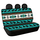 CLOHOMIN Southwest Native American Print Back Seat Cover Set of 2 Indian Tribal Aztec Geometry Dreamcatcher Horse Back Rear Car Seat Covers for Women, Washable Kids Dog Car Seat Cover