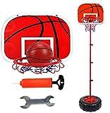 XRDSHY Portátiles Canasta Baloncesto Exterior Ajustable Altura Opcional 130-200cm Mini Aro De Baloncesto para Niños Y Niñas Oficina Juegos De Jardin Infantil Regalos,Red-130cm(66-130cm)