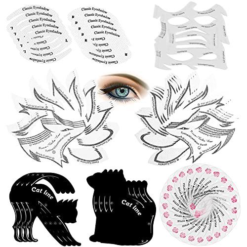 Eyeliner Schablonenkarten,Cat Lidschattenkontur Schablone,Augen Make-up Vorlage Aufkleber,Eyeliner Lidschatten Make-up Werkzeug Gut für Augen Make-up Schablone
