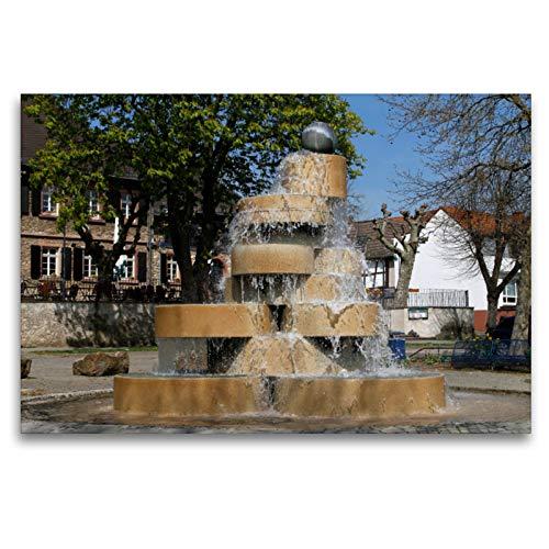 Premium Textil-Leinwand 120 x 80 cm Quer-Format Berliner Brunnen | Wandbild, HD-Bild auf Keilrahmen, Fertigbild auf hochwertigem Vlies, Leinwanddruck von Petrus Bodenstaff