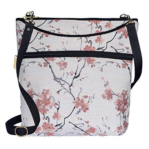 Danny K Women's Tapestry Bag Crossbody Handbag, Maggie Purse Handmade in the USA (Cherry Blossom)