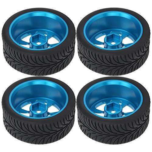 Haowecib Neumáticos de Goma, neumáticos de Goma para Ruedas RC Reemplazo de neumáticos RC 1/14 Buje de Rueda para Juguetes RC para Coche de Control Remoto