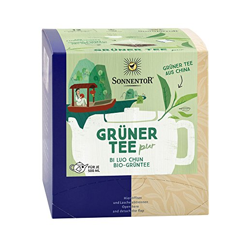 Sonnentor Bio Grüner Tee Bi Lou Pur Kannenbeutel 36g