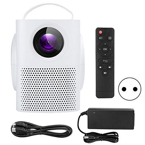 01 Mini proyector, proyector portátil HD para Exteriores con Control Remoto de Sonido estéreo para Cine en casa para Fiestas para Viajes al Aire Libre(Transl)