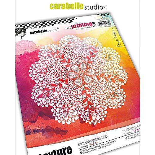 Carabelle Studio Art Printing rubberen stempel cirkel, bloemenboekje, voor monoprinting met gelplaten