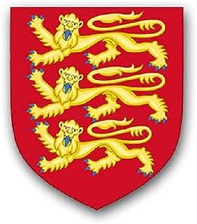 England three lions lion normandy united kingdom national symbol badge emblem for Audi A3 BMW VW Golf GTI Mercedes (6x7cm) - Sticker Wall Decoration