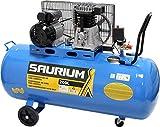 SAURIUM - Compresor de Aire - Con Correas - Eléctrico - 200L 3HP  - La mejor relacion precio / calidad!
