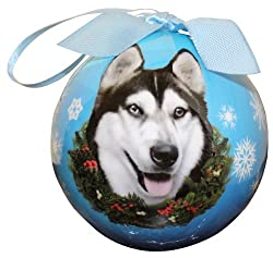 Siberian Husky Ornament Shatter Proof Ball