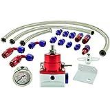 man/ómetro 0/ /7/Bar ajustable en Plata Auto de Dress regulador de presi/ón de gasolina BDR universal