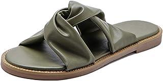 Melady Women Casual Summer Shoes Flat Slide Sandals Slip On