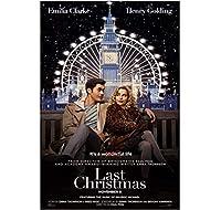 ラストクリスマスクラシック映画ウォールアートキャンバス絵画ポスターリビングルーム家の装飾壁の装飾-50x70cmフレームなし