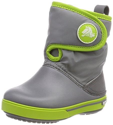 crocs Unisex-Kinder Crocband II.5 Gust Boot Schneestiefel, Grau (Charcoal/Volt Green), 27/28 EU