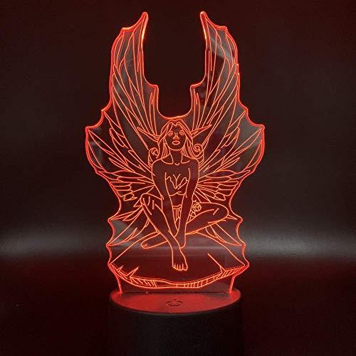 Cheerleading 3D luz de noche acrílico USB colorido Control remoto táctil atmósfera luz bebé dormitorio lámpara lámpara de mesa regalo creativo