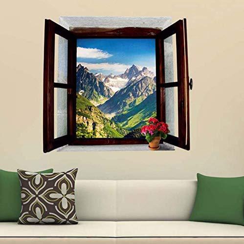 Diy Ventana Falsa Montaña Paisaje Arte Pegatina Dormitorio