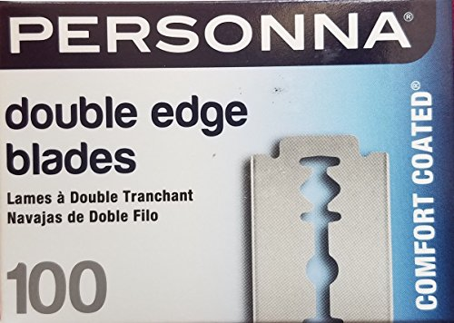 Personna Double Edge Razor Blades in White Wrapper 100 count