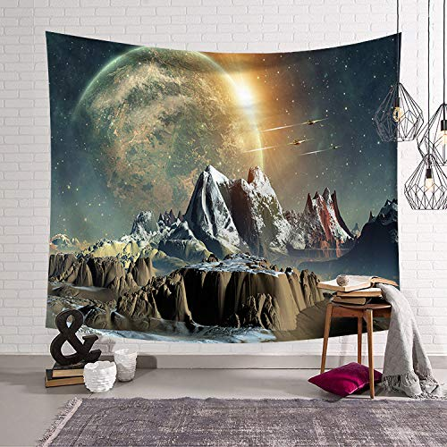DAHUAJIA wandtapijt, melkstraat, berg, digitale bedrukking, hangende doek, doek, wandtapijt, decoratie, wandschildering, strandlaken, huisdecoratie, kunst muur 130X150CM