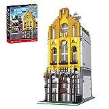 CT-Tribe Modelo de bloques de construcción, modelo de arquitectura, Ice Cream Shop, arquitectura modular con 2605 piezas, compatible con Lego - con luz
