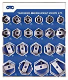 OTC 9850 6-Point Truck Wheel Bearing Locknut Socket Set with Tool Board