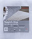 andiamo Teppich-Stop Antirutschmatte Teppichgleitschutz Teppichunterlage Haftgitter Rutschschutz, PVC beschichtetes Polyester, rutschhemmend zuschneidbar pflegeleicht strapazierfähig, weiß,60x120cm