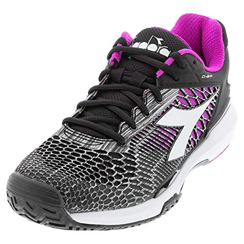 Diadora Speed Competition 5 AG Womens Tennis Shoe - Black/White/Purple