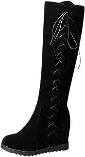 RizaBina Women Casual Flats Knee High Boots