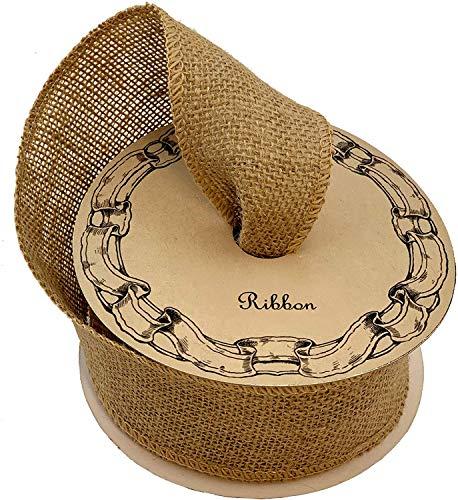 Natural Rustic Burlap Craft Ribbon - 6 cm x 10 Metres Long, Easter, Christmas Ribbon, Boxing Day, Rustic Jute, Wreath, Swag, Garland, Gift Basket