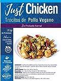 JUST VEGAN- TROCITOS DE POLLO VEGANO 250g | 100% VEGETALES | Sin carne | Plant Based | Sin Gluten