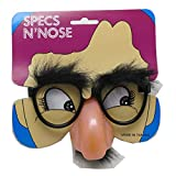 Loftus International Loftus Humorous Halloween Fuzzy Mustache Glasses, Black Beige, One Size Novelty Item