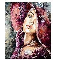 数字による絵画図手描きの絵画アートギフト数字によるDIY写真女の子キットキャンバスに描く家の装飾40×50cm(フレームなし)