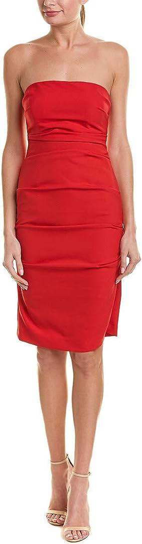 Nicole Miller Women's Store Techy Strapless Crepe Dress Jacksonville Mall Tuck