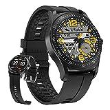 HQPCAHL Smartwatch Reloj Inteligente Impermeable IP67 para Hombre Mujer Niños Pulsera De Actividad Inteligente con Monitor De Sueño Contador De Caloría Pulsómetros Podómetro para Android iOS,Negro