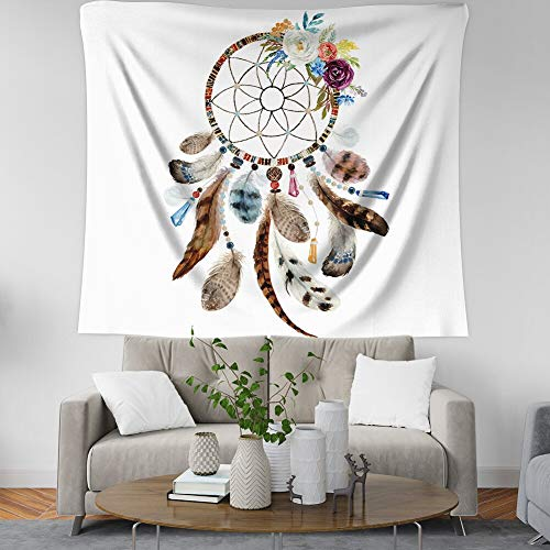 KHKJ Mandala Tapiz Colgante de Pared Breve Tapiz de Plumas Manta Tapices para niña Dormitorio Decoración de la habitación Envío de la Gota A5 150x130cm