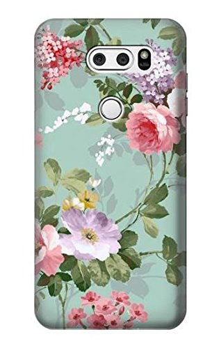 Innovedesire Flower Floral Art Painting Hülle Schutzhülle Taschen für LG V30, LG V30 Plus, LG V30S ThinQ, LG V35, LG V35 ThinQ