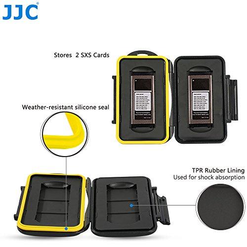 JJC Multi Memory Card Case MC-SXS2 Speicherkarten Schutzbox für 2 Stück SXS Cards- extreme Wasserdicht und Stoßfest Box Safe Tasche Etui Aufbewahrungsbox Hülle