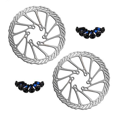 Rotor De Freno De Disco De 160 Mm, Rotor De Bicicleta De Acero Inoxidable, con 12 Pernos Rotores, para La Mayoría De Bicicletas, Bicicletas De Carretera, Bicicletas De Montaña, 2 Piezas